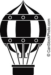 Old fashioned helium balloon icon, simple style - Old...