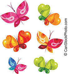 butterfly card - vector illustration of a butterfly card