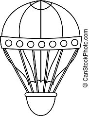 Old fashioned helium balloon icon, outline style - Old...