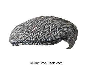 Driving hat with a clipping path - Drivers hat isolated on...