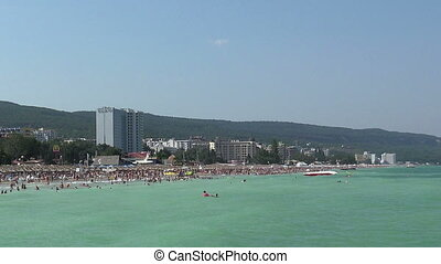 Golden Sands beach Zlatni Piasci in Bulgaria. - Golden Sands...