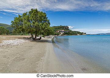 Amazing seascape of Keri Beach, Zakynthos island, Greece