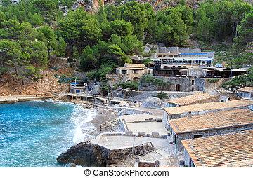 Hotels and Restaurants in Port de Sa Calobra, Majorca, Spain
