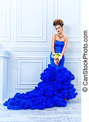 high fashion show - Full length portrait of a stunning young...