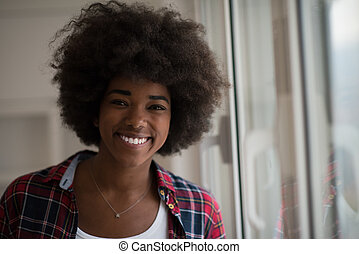 portrait of a young beautiful black woman
