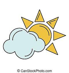 sun cloud weather symbol