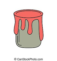 paint can colo icon vector illustration eps 10
