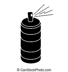 spray can container pictogram vector illustration eps 10