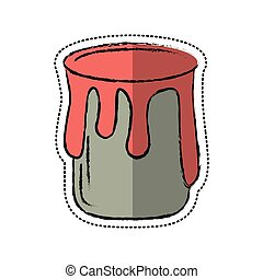 cartoon paint can colo icon vector illustration eps 10