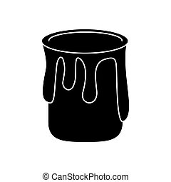 paint can colo pictogram vector illustration eps 10