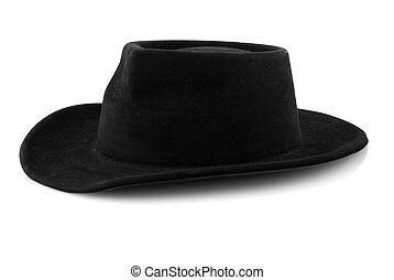 Western cowboy black felt hat