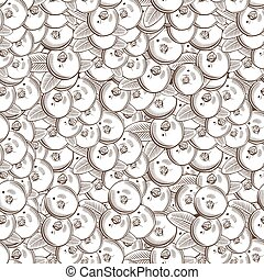 Vintage Cranberry Seamless Pattern - Vector seamless pattern...