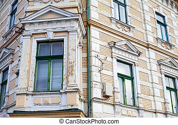 Antique building in Oradea's dowtown - Close up picture of...