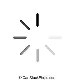 Vector loading black icon on white