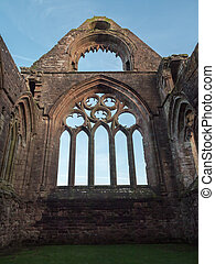 Sweetheart Abbey, Scotland - Chancel ruins of Sweetheart...