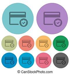 Safe credit card transaction color darker flat icons