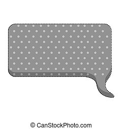 sticker callout for dialogue shape of rectangle with background dots