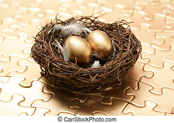 Nest Egg - A conceptual piece of managing to create a...