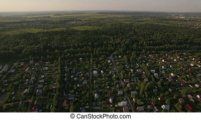 Countryside landscape in Russia, aerial view