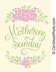 Mothering Sunday card - Greeting card with flowers for...