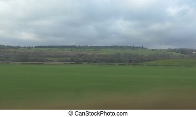 English landscape from train window - Landscape of England...