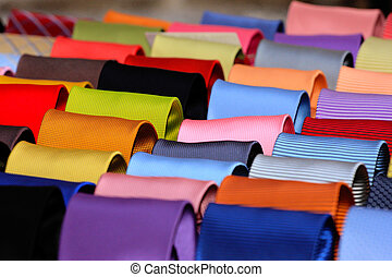 Ties - Shelf with diverse color ties