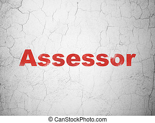 Insurance concept: Assessor on wall background - Insurance...