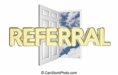 Open Door Welcome Clipart picture of introduction door opening welcome word 3d animation
