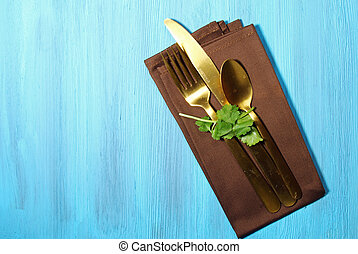 Napkin with cutlery
