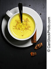 Golden milk or Turmeric Latte - Turmeric Latte, or golden...