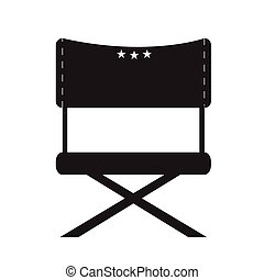 Isolated director chair - Isolated silhouette of a director...