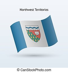 Canadian Northwest Territories flag waving form. - Canadian...