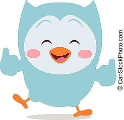 Happy owl mascot vector art collection stock