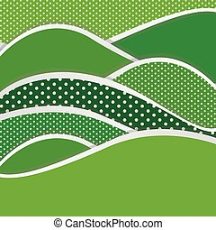 green mountains of different sizes icon, vector...