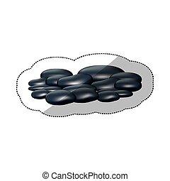 spa dark gray many volcanic rocks, vector illustraction...