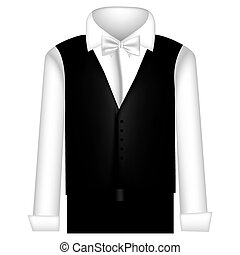 sticker suit with shirt, waistcoat and pants