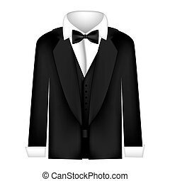 sticker shirt with bow tie and coat icon