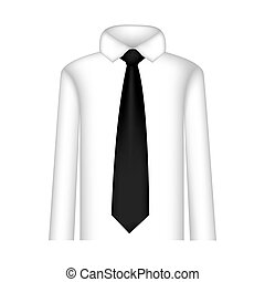 black tie with shirt icon