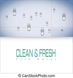 Abstract background Pure Water, Card and...