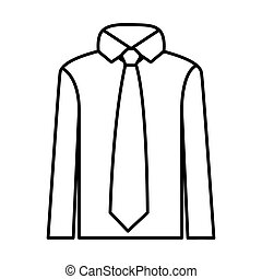 figure tie with shirt icon