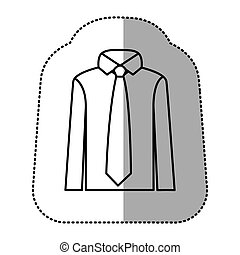 contour tie with shirt icon
