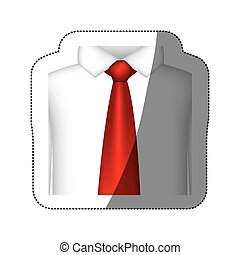 color tie with shirt icon