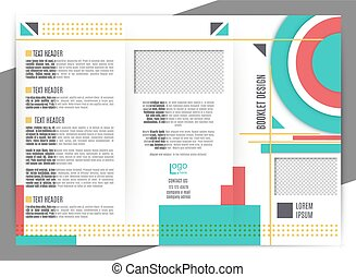 Brochure design template. vector trifold geometric abstract....