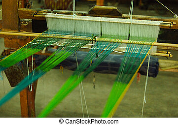 production and weaving of carpets and fabrics - Hand made on...