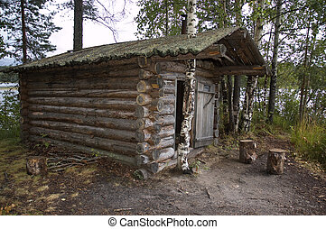 old wooden house as example of national culture