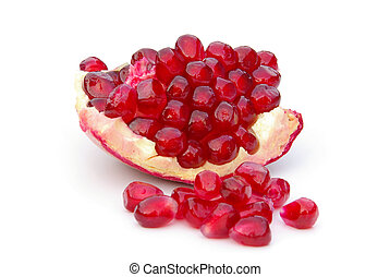 pomegranate isolated - pomegranate isolated