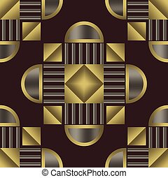 Art deco seamless pattern - Art deco geometric vintage...