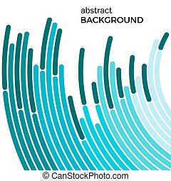 Abstract background with green lines. Green circles with place for your text