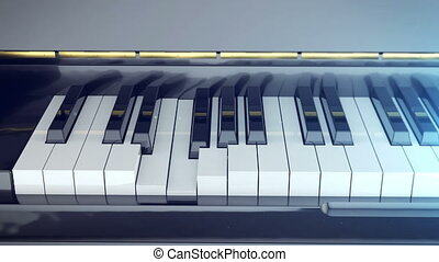 Classic music concept. - Keys of a piano are pressed and...