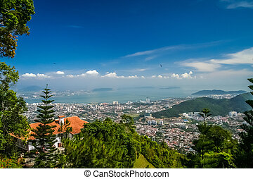 Penang from above - Panorama of Penang ( Georgetown ) in...